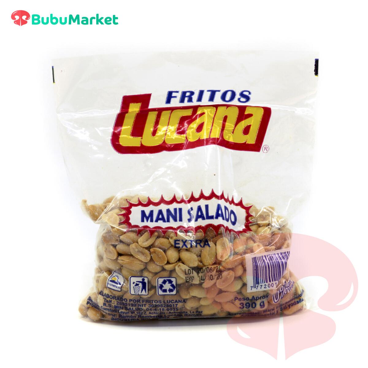 MANI SALADO LUCANA BOLSA DE 390 GR.