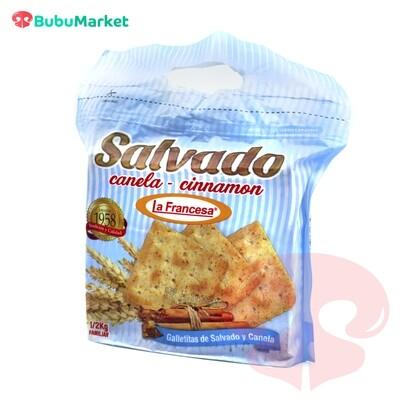 GALLETAS DE SALVADO Y CANELA LA FRANCESA PAQUETE DE 1/2 K.