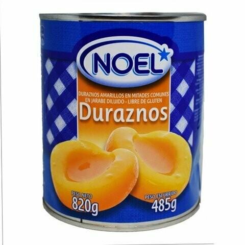 DURAZNOS EN MITADES NOEL 820 GR.