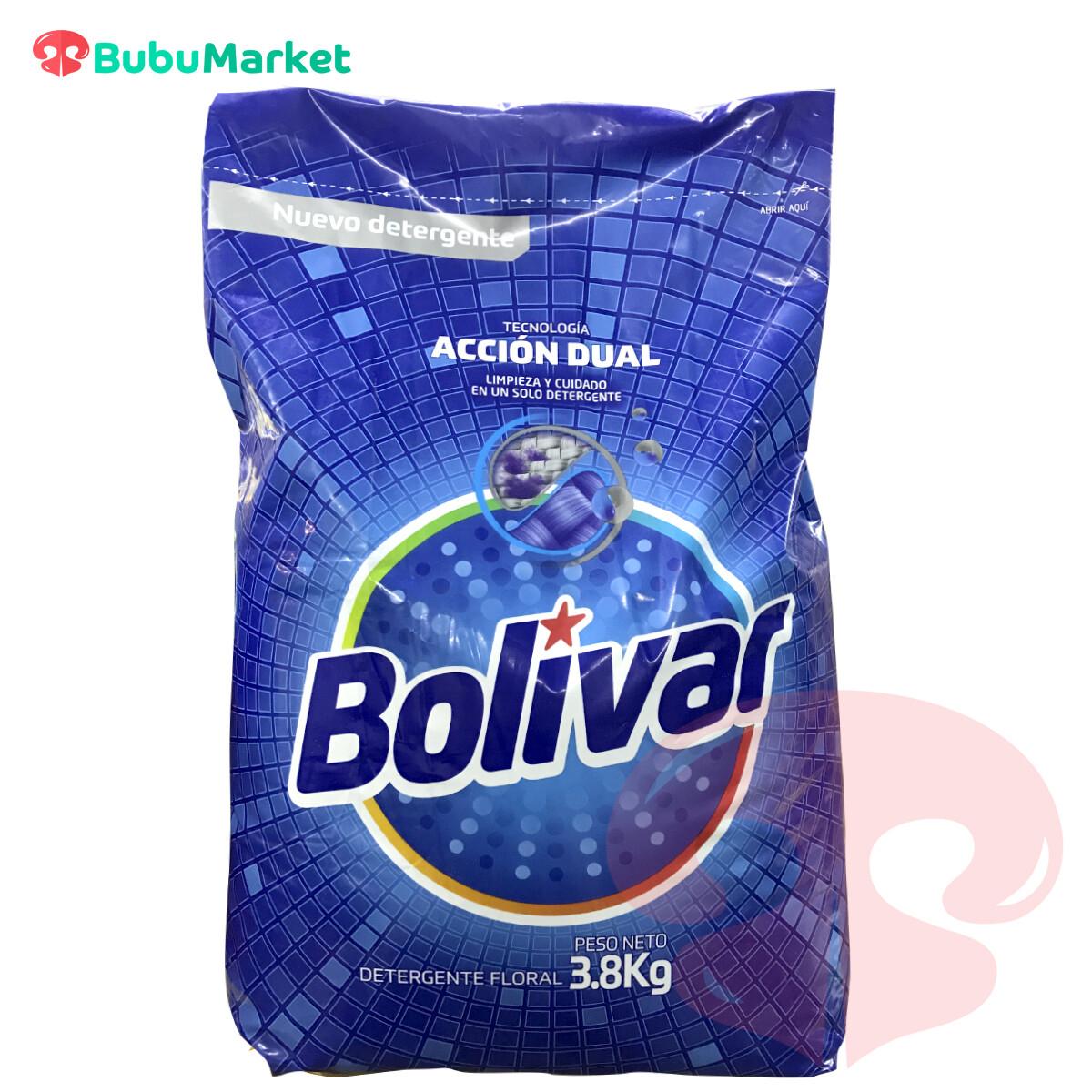 DETERGENTE BOLIVAR ACCION DUAL FLORAL BOLSA DE 3,8 K.