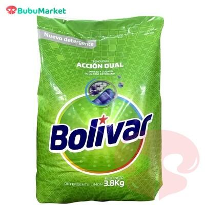 DETERGENTE BOLIVAR ACCION DUAL LIMON BOLSA DE 3,8 K.