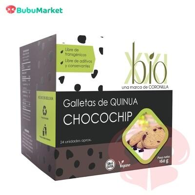 GALLETAS BIO XXI DE QUINUA Y CHOCOCHIP 160 GR.