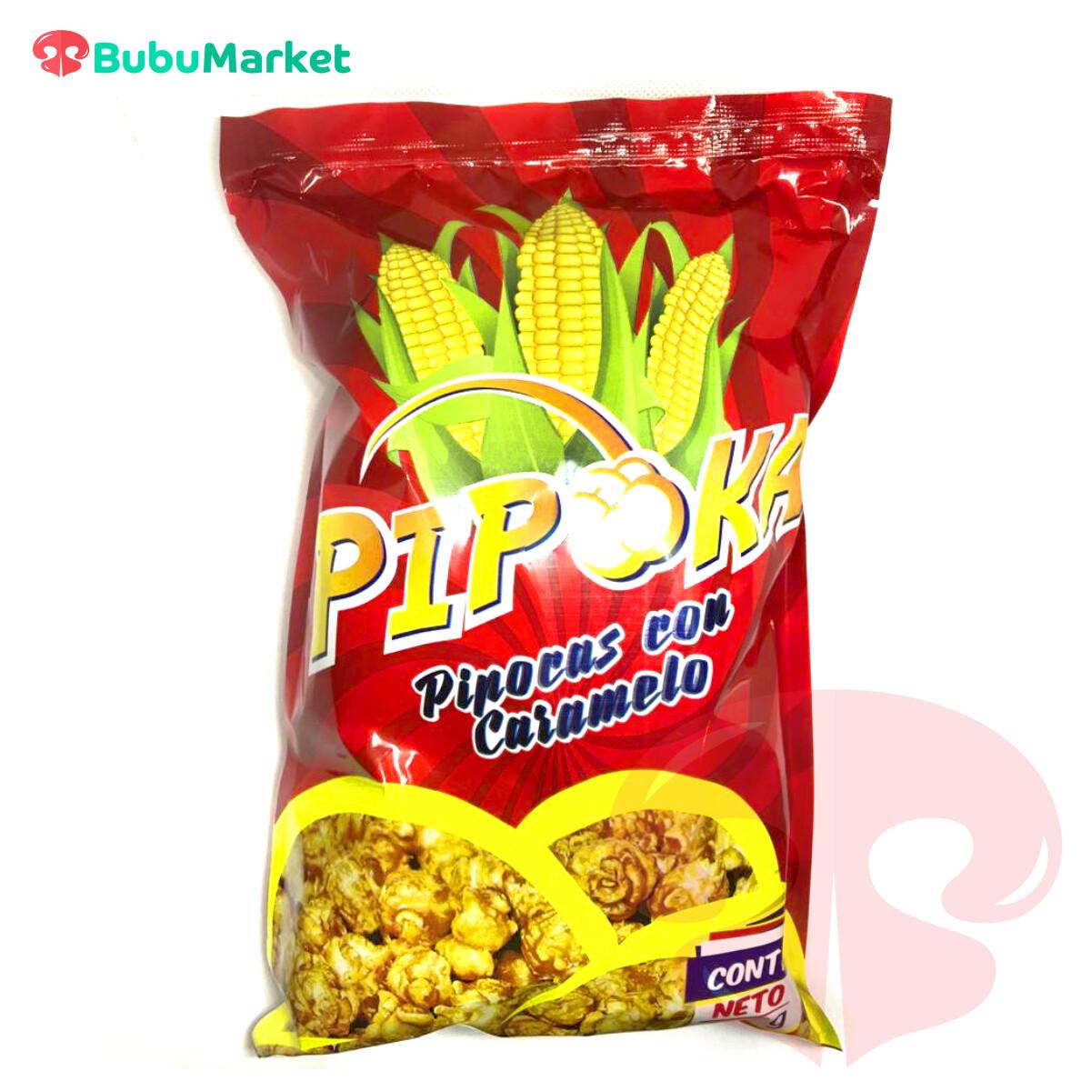 PIPOKA, PIPOCAS CON CARAMELO BOLSA DE 100 GR.