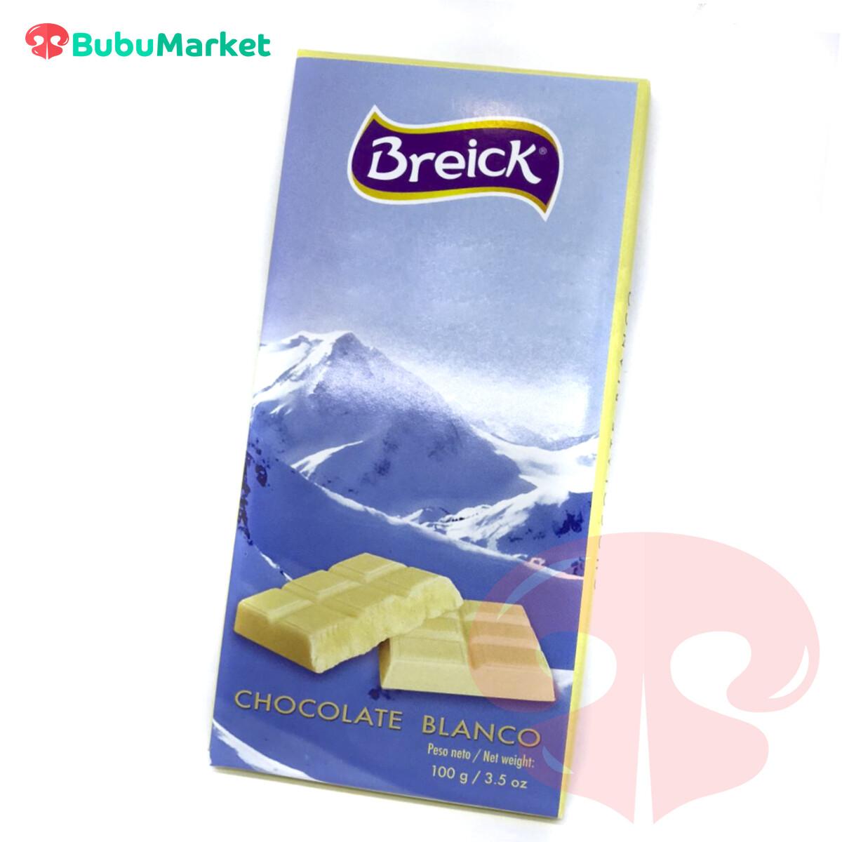 CHOCOLATE BLANCO BREICK TABLETA 100 GR.