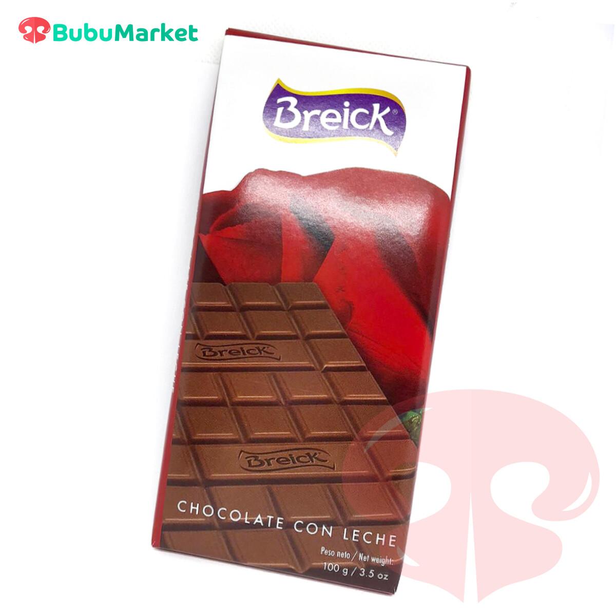 CHOCOLATE  CON LECHE BREICK TABLETA 100 GR.