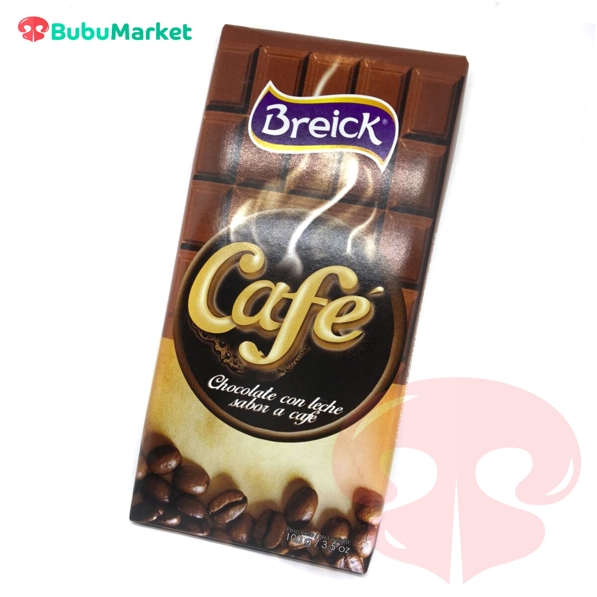 CHOCOLATE CON LECHE SABOR A CAFE BREICK TABLETA 100 GR.