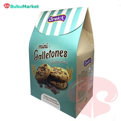 MINI GALLETONES CON CHIPS DE CHOCOLATE BREICK CAJA PIRAMIDE 235 GR.