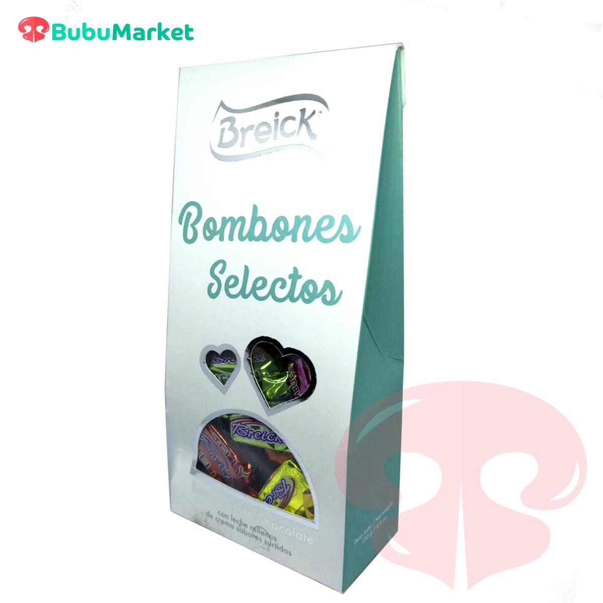 BOMBONES SELECTOS RELLENOS DE CREMA BREICK CAJA PIRAMIDA130 GR.