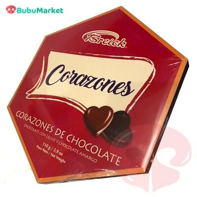 CAJA CORAZONES DE CHOCOLATE BREICK 110 GR.
