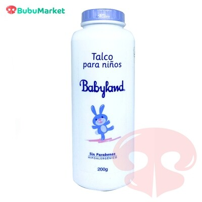 TALCO PARA NIÑOS BABYLAND HIPOALERGENICO 200 GR.