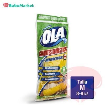 GUANTES DOMESTICOS OLA TALLA M (8-8y1/2)