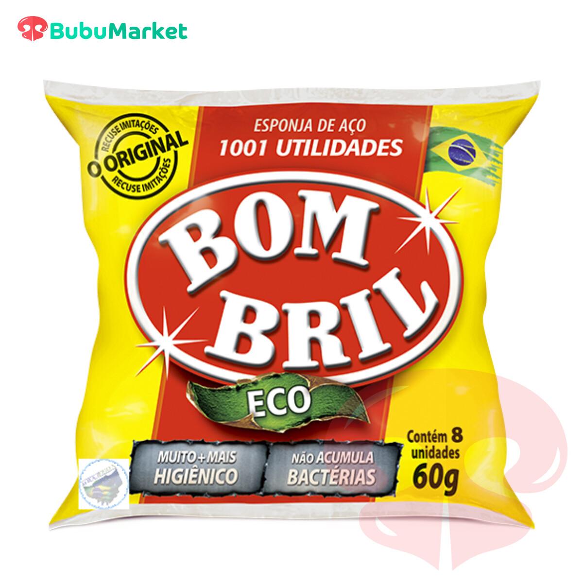 BOM BRIL ECO ESPONJA DE ACERO 60 GR.
