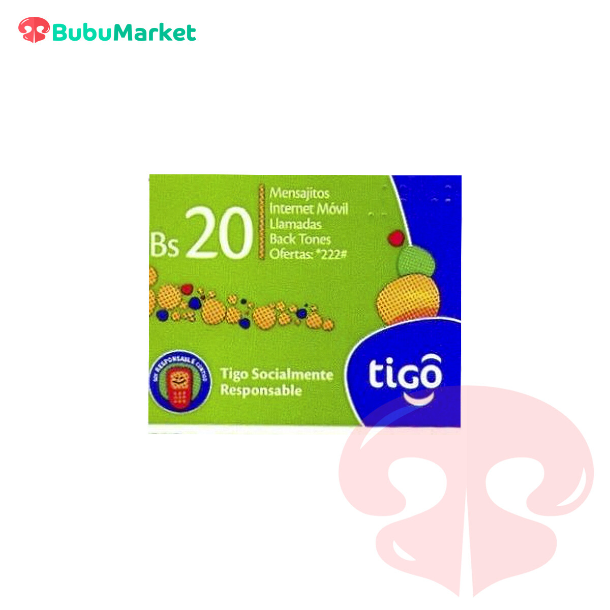 TARJETA TIGO DE Bs. 20.-
