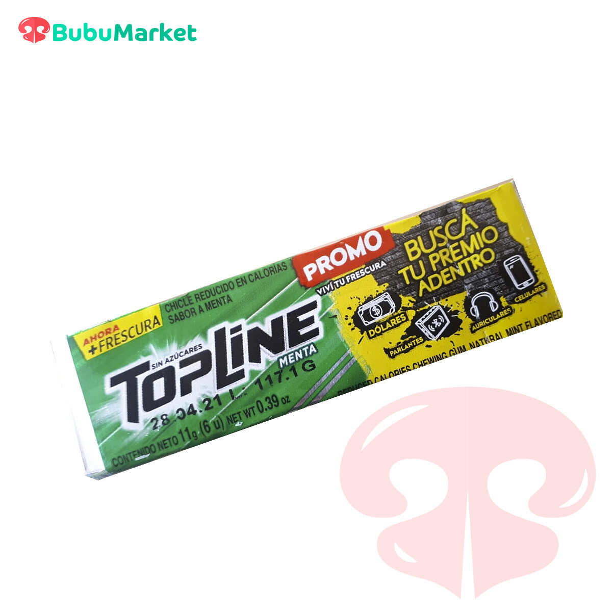 CHICLE TOP LINE MENTA 11 GR.