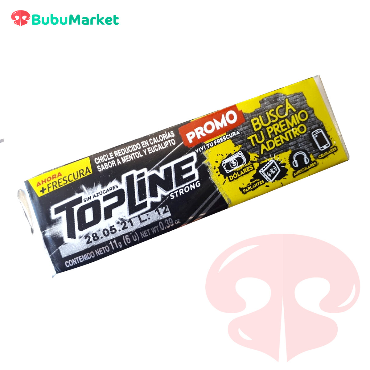 CHICLE TOP LINE STRONG 11 GR.