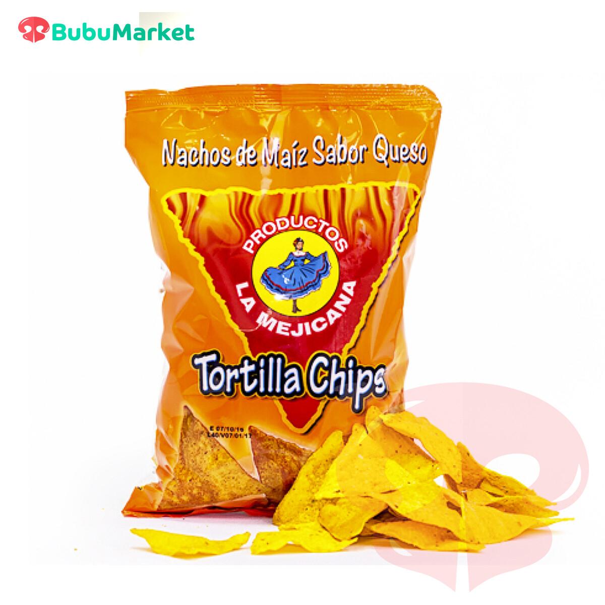 TORTILLA CHIPS  SABOR QUESO LA MEJICANA 200 GR.