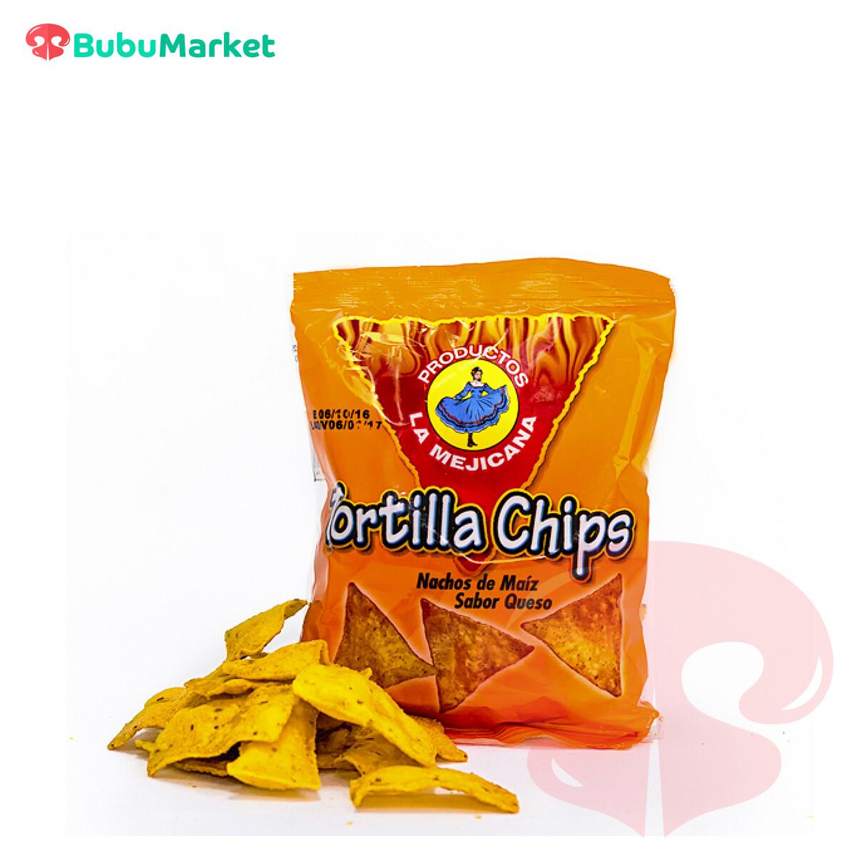 TORTILLA CHIPS  SABOR QUESO LA MEJICANA 35 GR.