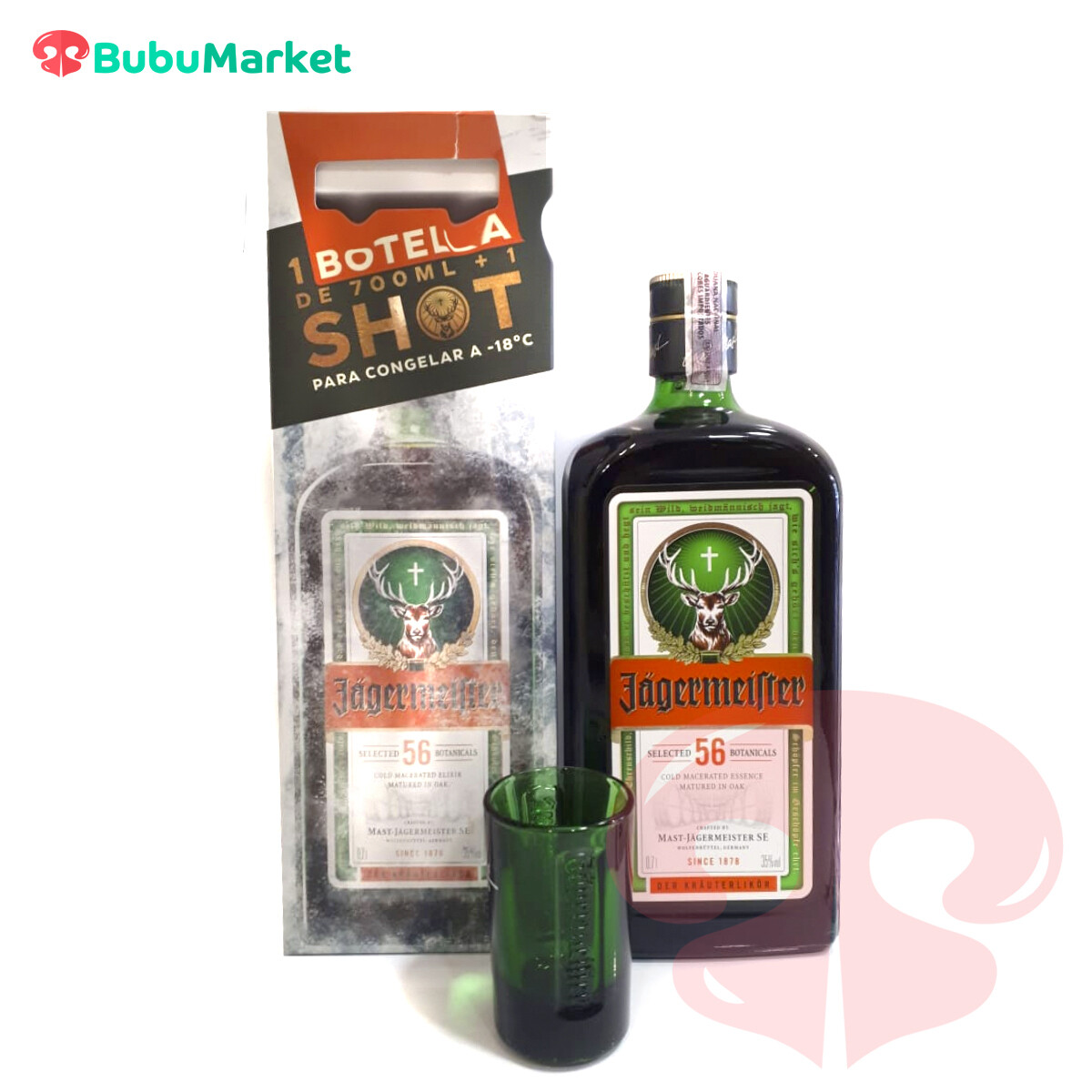 PACK JAGERMEISTER + SHOT  700 ML.