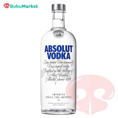 ABSOLUT VODKA BLUE 1 L.