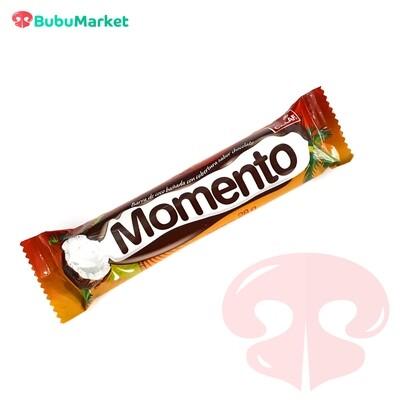 CHOCOLATE MOMENTO, BARRA DE COCO BAÑADA CON CHOCOLATE 28 GR.