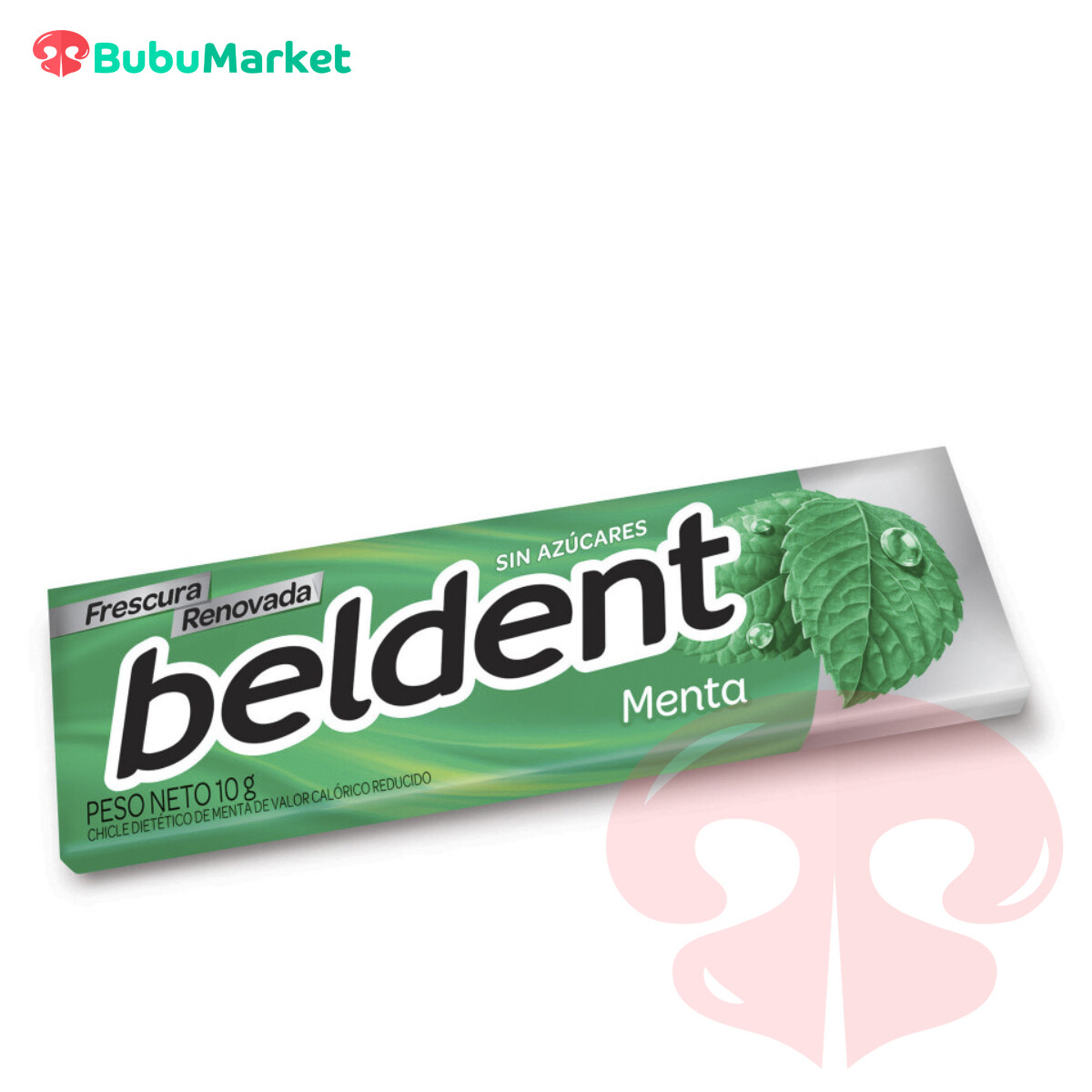 BELDENT, GOMA DE MASCAR SABOR MENTA SIN AZUCAR