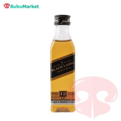 WHISKY JOHNNIE WALKER ETIQUETA NEGRA 50 ML.