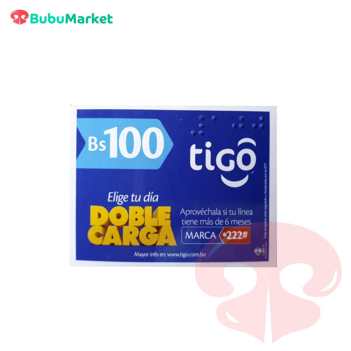 TARJETA TIGO DE Bs. 100.-