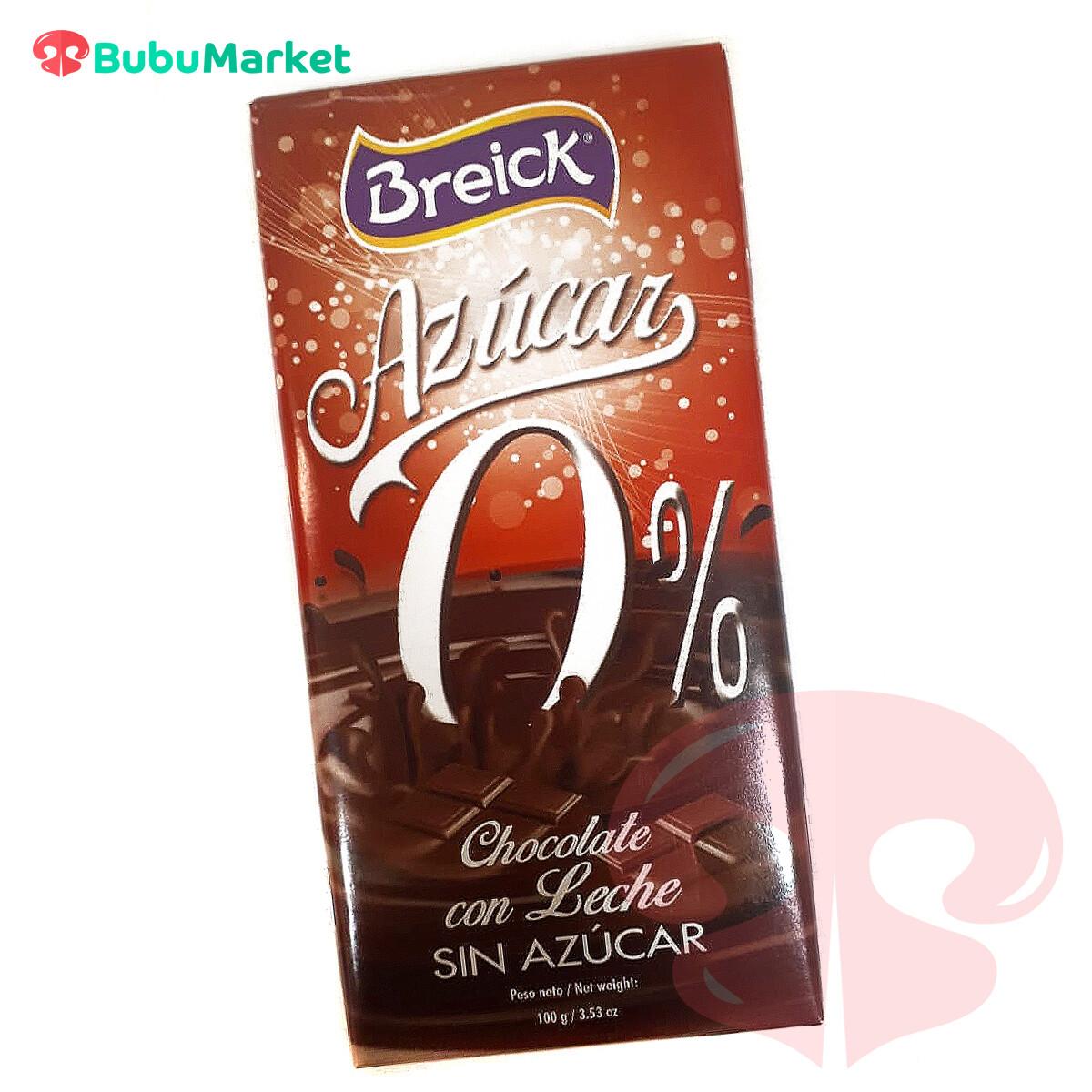 CHOCOLATE BREICK CON LECHE 0% SIN AZUCAR