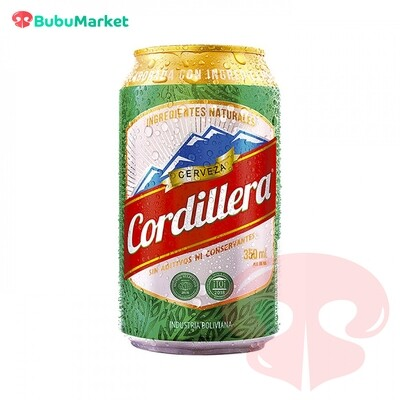 CERVEZA CORDILLERA EN LATA 350 CC.