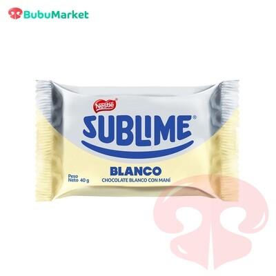 CHOCOLATE SUBLIME BLANCO NESTLE (CON LECHE Y MANI) DE 40 GR.