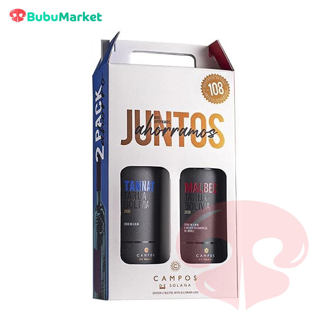 PACK AHORRO (TANNAT + MALBEC) CAMPOS DE SOLANA 750 CC.