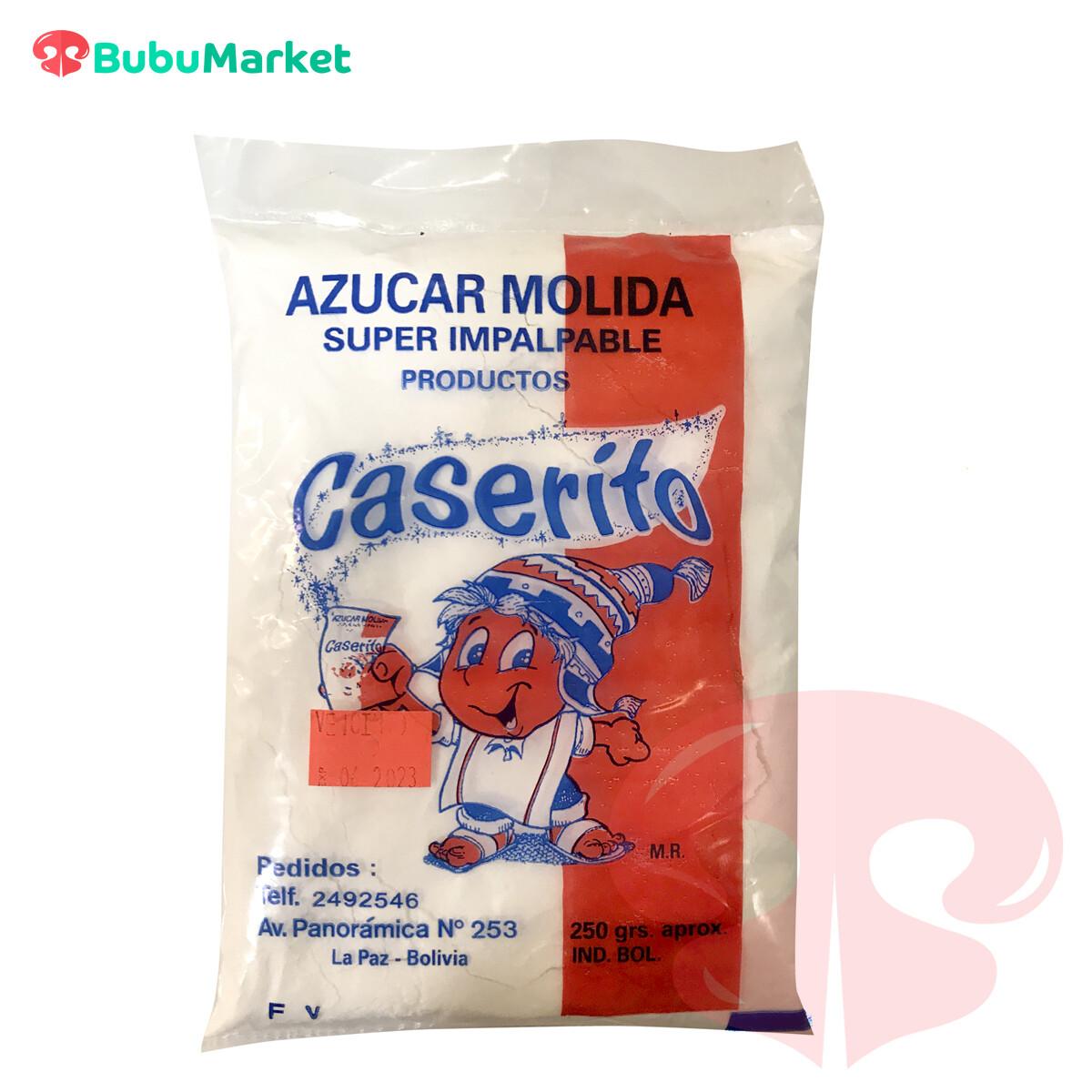 AZUCAR MOLIDA IMPALPABLE CASERITO EN BOLSA DE 250 GR.