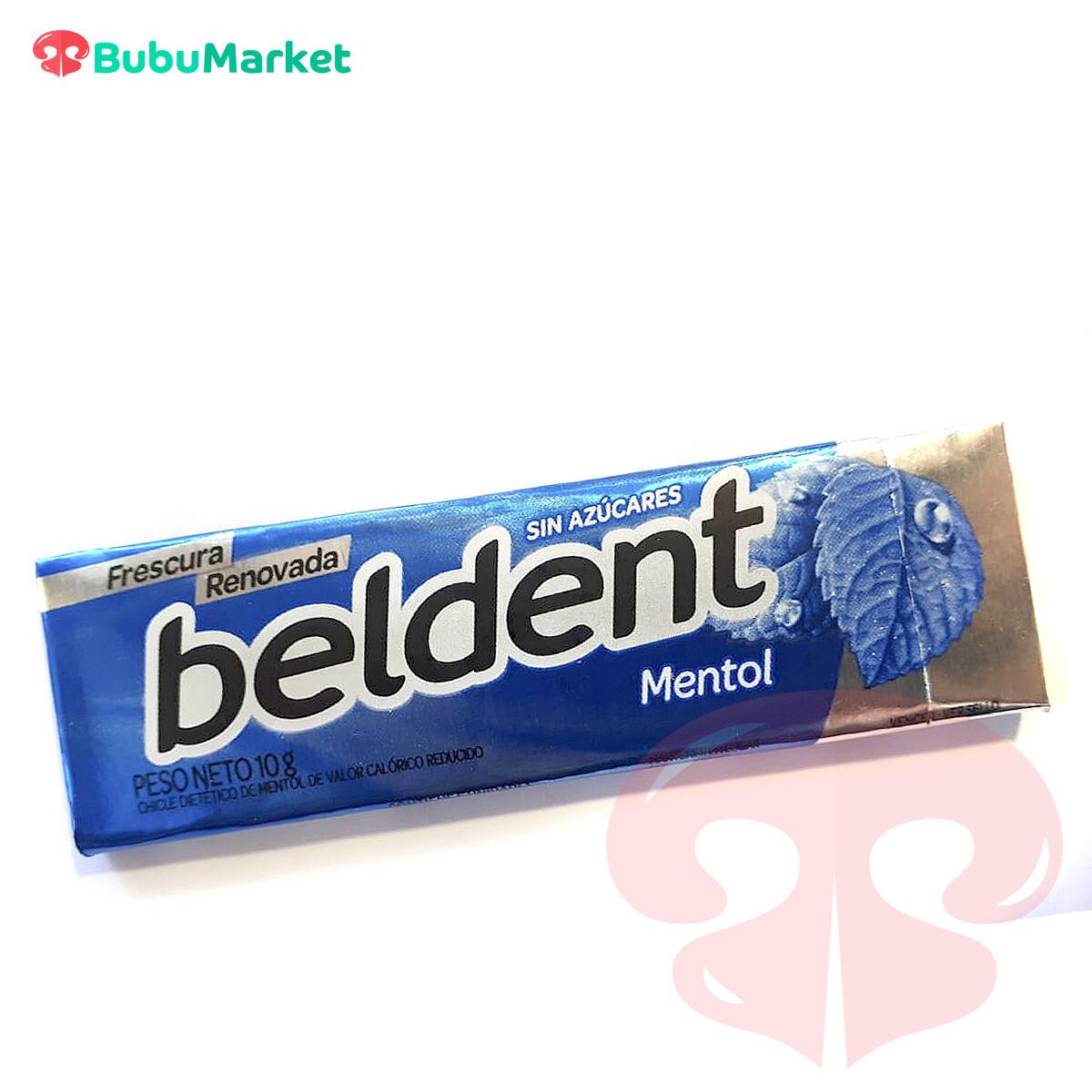 BELDENT, GOMA DE MASCAR SABOR MENTOL SIN AZUCAR
