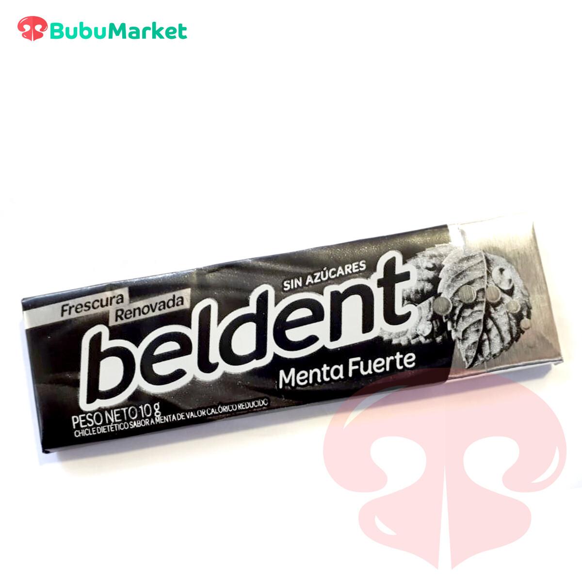 BELDENT, GOMA DE MASCAR SABOR MENTA FUERTE SIN AZUCAR