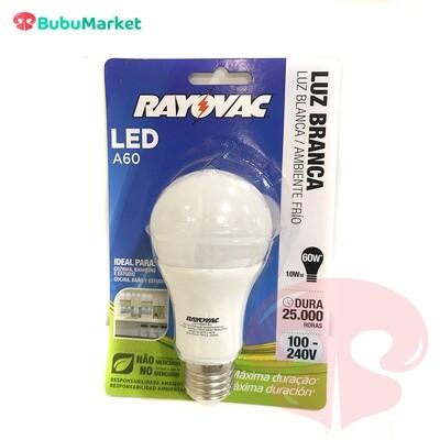 FOCO LED RAYOVAC A60 LUZ BLANCA 10 W.