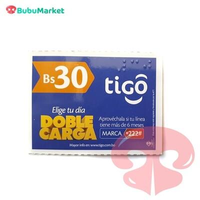 TARJETA TIGO DE Bs. 30.-