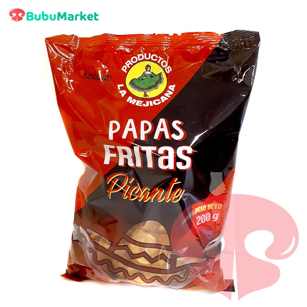 PAPAS FRITAS PICANTES LA MEJICANA 200 GR.