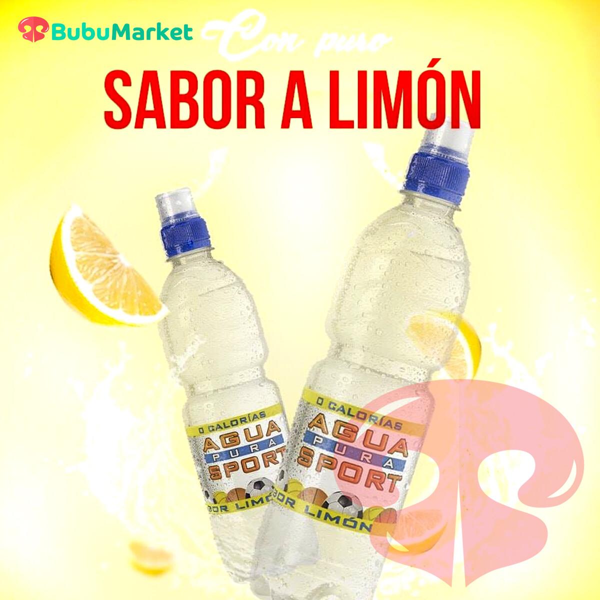 AGUA SPORT SABOR LIMON 600 ML.