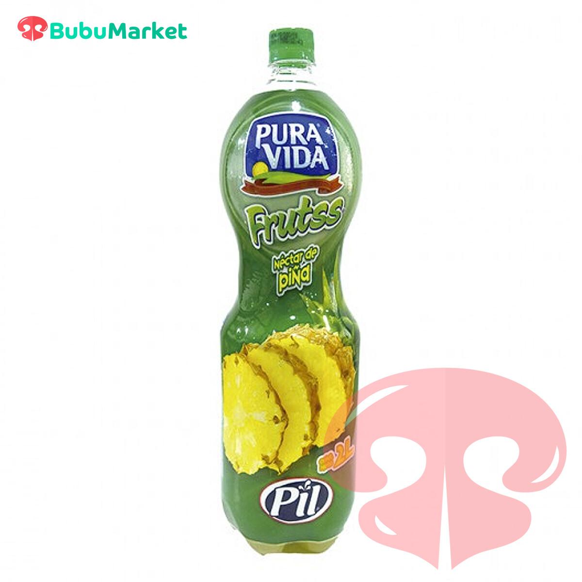 NECTAR PIÑA PURA VIDA PIL BOTELLA 2 L.