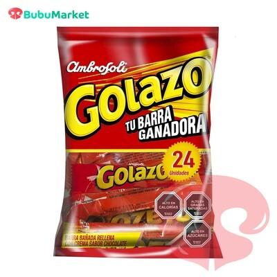 BOLSA DE 24 U. CHOCOLATE GOLAZO 25 GR.