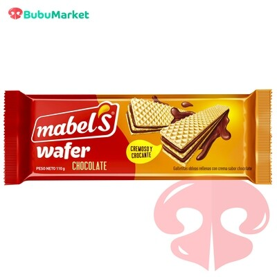 GALLETA WAFER MABEL CHOCOLATE 110 GR.