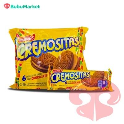 GALLETAS CREMOSITAS MABELS CHOCOLATE 38 GR. X6