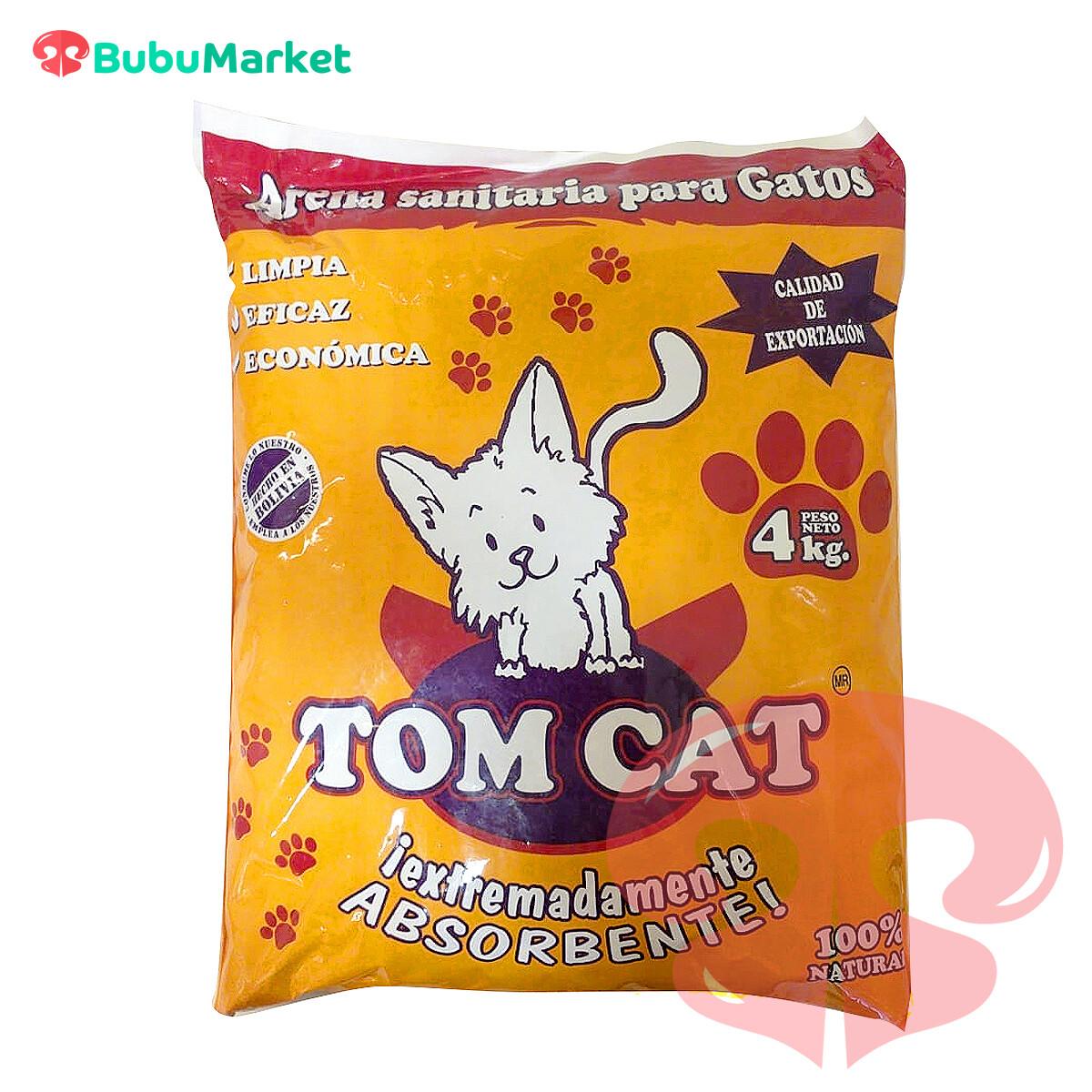 TOM CAT ARENA PARA GATOS BOLSA 4 KG.