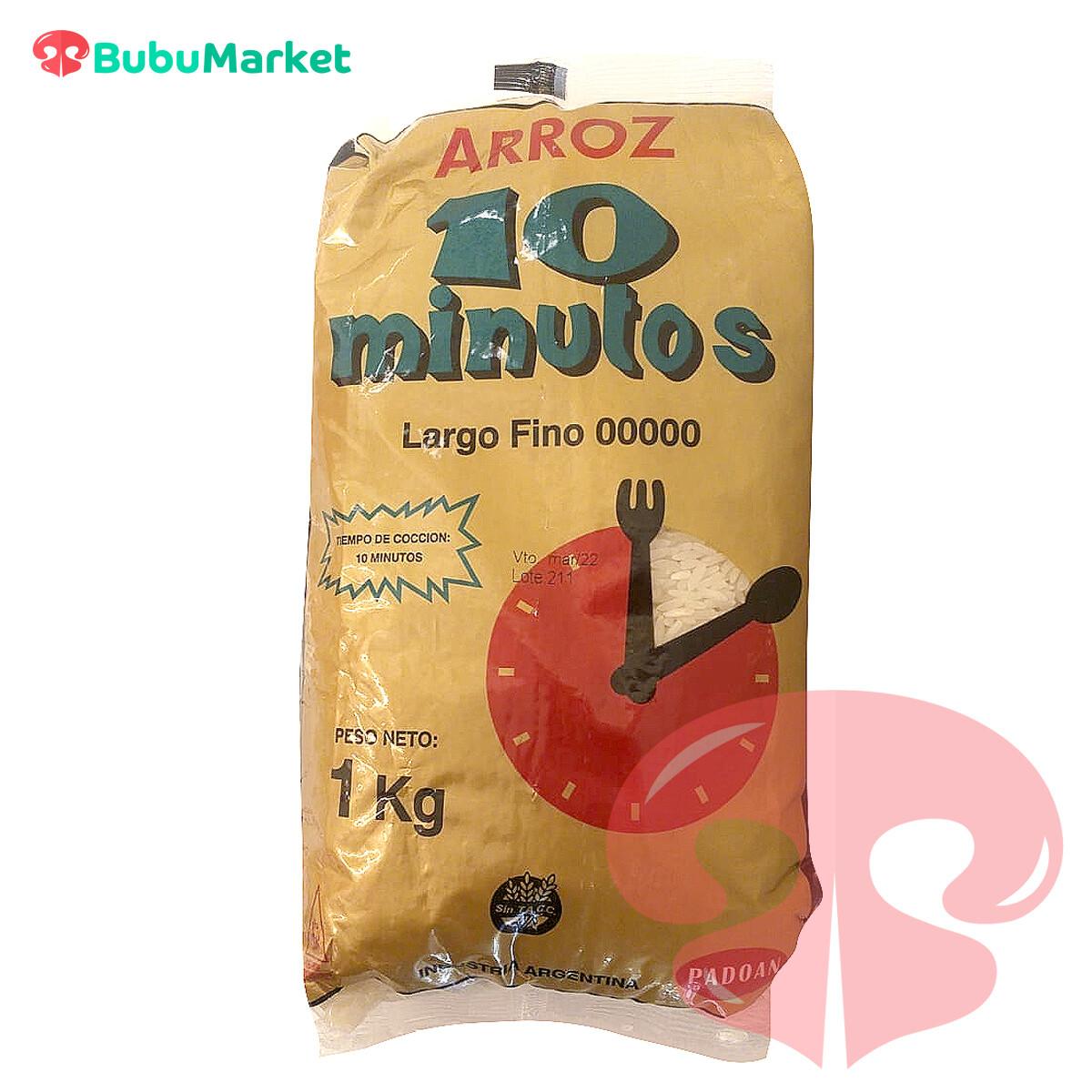 ARROZ 10 MINUTOS BOLSA DE 1 KILO