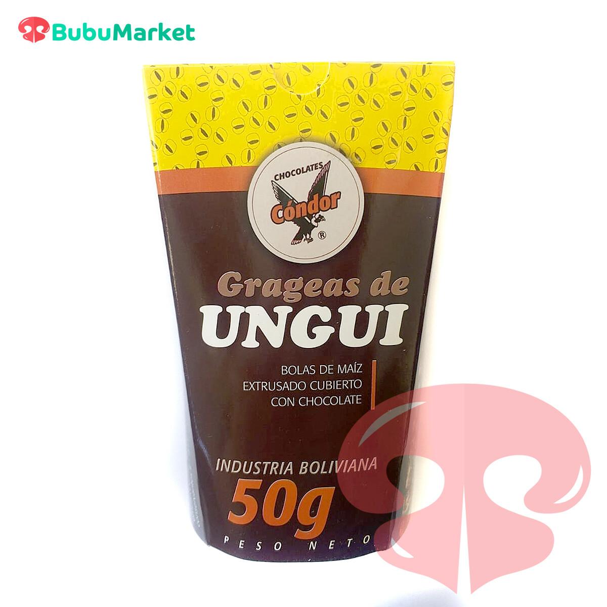 GRAGEAS DE UNGUI CHOCOLATE CONDOR EN VASO DE 50 GR.