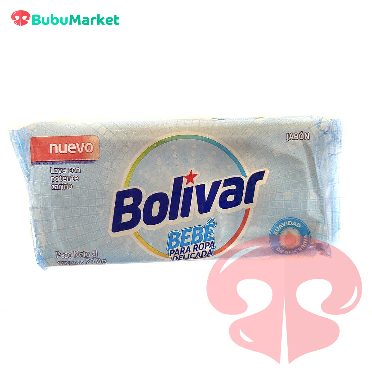 JABON BOLIVAR BEBE ROPA DELICADA BARRA DE 210 GR.