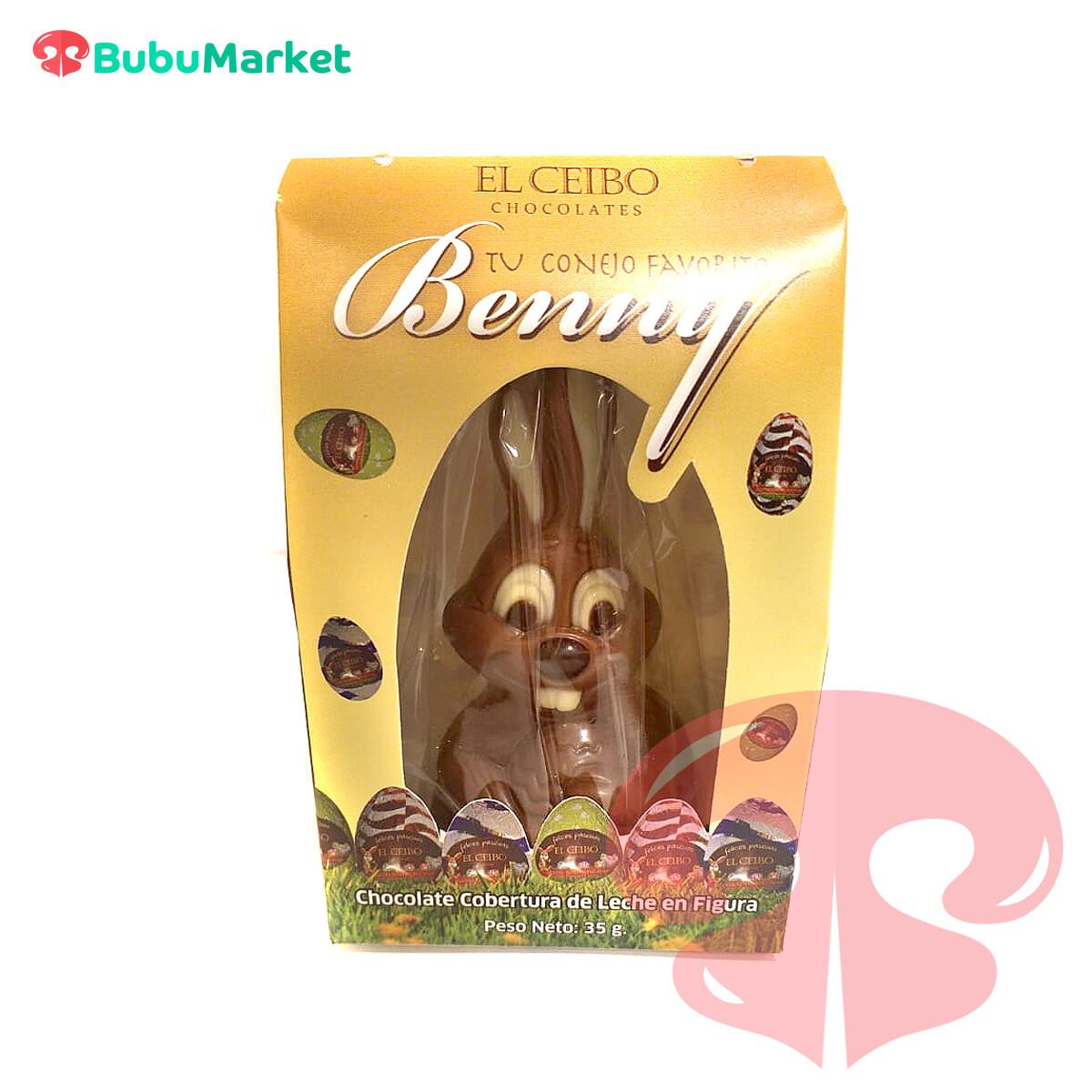 CONEJITO BENNY CHOCOLATE CEIBO 35 GR.