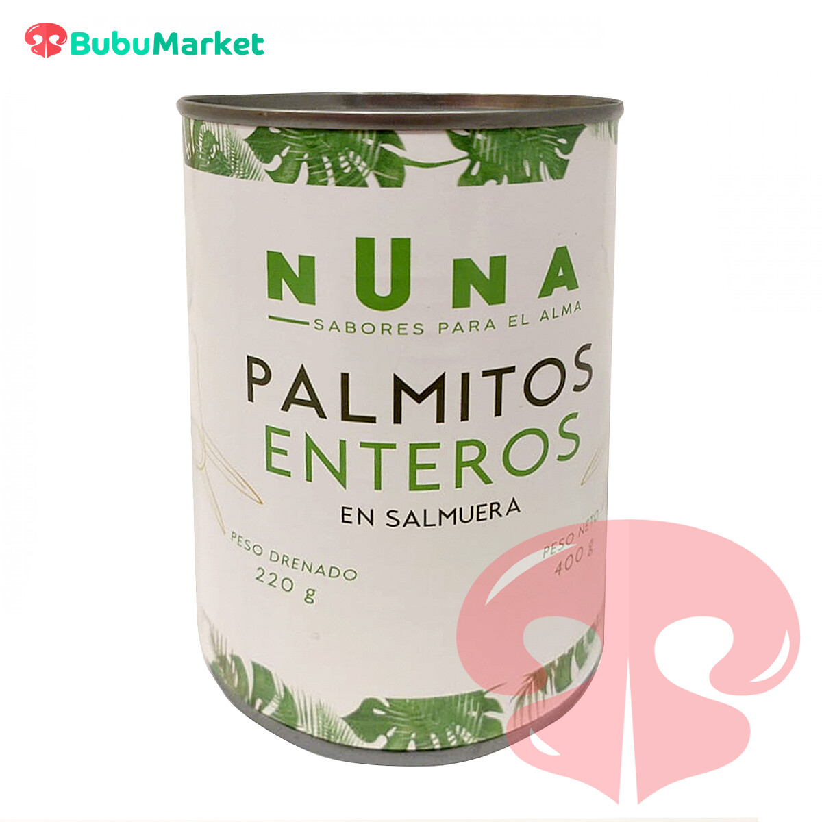 PALMITOS ENTEROS NUNA 400 GR.