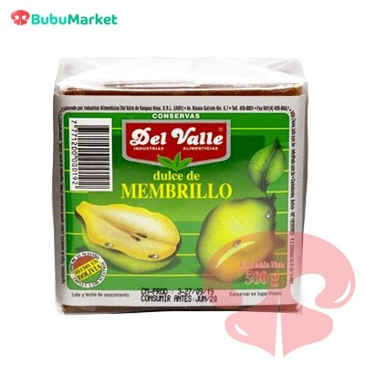 DULCE DE MEMBRILLO DEL VALLE 500 GR.