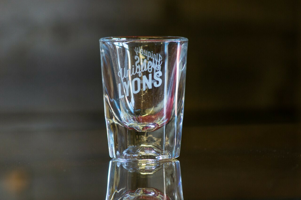 Uniquely Lyons Shot Glass